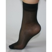 ANKLE STOCKINGS BLACK ---  (5 PAIRS)