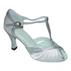 CATALINA WHITE/SILVER - 2.5 INCH HEEL