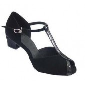 DAKOTA BLACK SPARKLE - BLOCK HEEL
