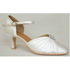 GEORGIA IVORY 1 - 2.5 INCH HEEL - SUEDE SOLE