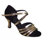 LEE BLACK/GOLD - 2.5 INCH HEEL