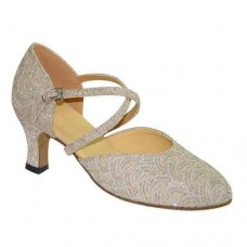 LILLY CHAMPAGNE CLOSED TOE - 2.5 INCH HEEL