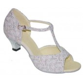 LILLY WHITE SPARKLE OPEN TOE 1.5 HEEL