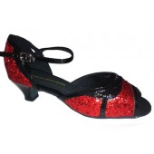 MAMBO RED SPARKLE - 1.5 INCH HEEL