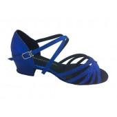 TASHA BLUE SPARKLE - BLOCK HEEL