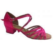 TASHA HOT PINK SATIN - BLOCK HEEL